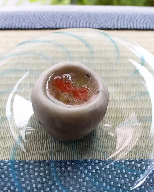 ガラス小皿 丸皿 吹きガラス 手造り Hono工房